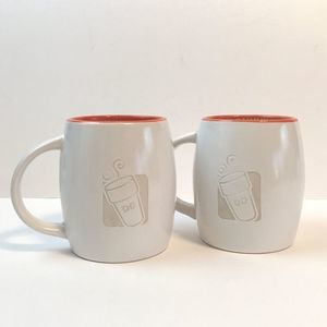 Dunkin' Donuts Engraved Mug Set of 2